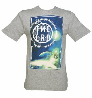 Men's Grey Marl Cosmic Time Lord Doctor Who T-Shirt from BBC Worldwide