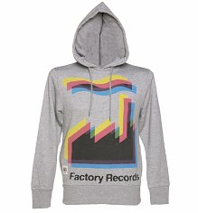 Men's Grey Marl Factory Records Hoodie from Worn By