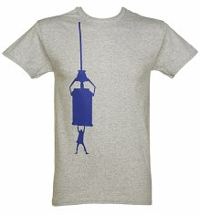 Men's Grey Marl TARDIS Hang Doctor Who T-Shirt