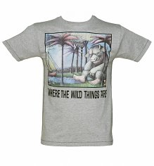 Men's Grey Marl Where The Wild Things Are T-Shirt from For Love & Money
