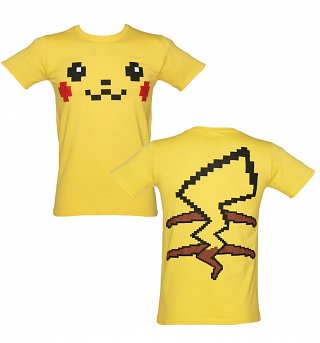 Men's Pikachu Face Costume T-Shirt