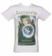Men's Vintage Labyrinth Movie Poster Heavyweight T-Shirt