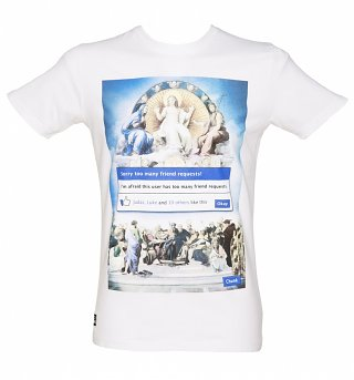 Men's White Friend Request T-Shirt from Chunk
