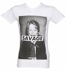 Men's White Kevin Savage T-Shirt from Eleven Paris