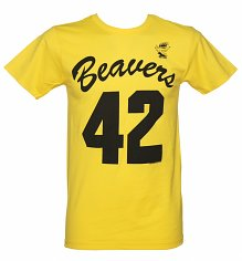 Men's Yellow Beavers Teen Wolf T-Shirt