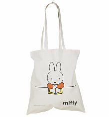 Miffy Reading Canvas Tote Bag
