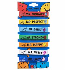 Mr Men Pack of Seven Jelly Wristbands