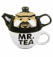 Mr Tea Teapot And Cup For One Set