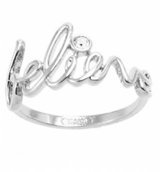 White Gold Plated Believe Ring from Disney Couture