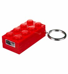 Red Lego Brick Keychain