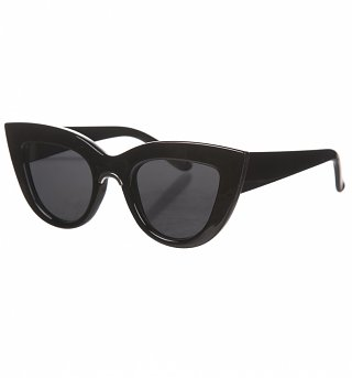 Retro Black Angelina Cats Eye Sunglasses from Jeepers Peepers