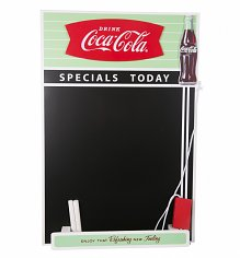 Retro Coca-Cola Fishtail Design Chalkboard