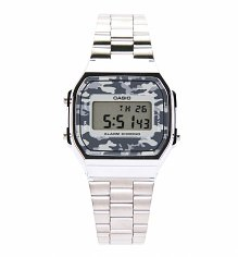 Silver Camouflage Digital Illuminator Watch A168WEC-1EF from Casio