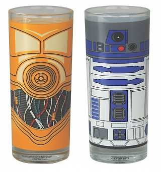 Star Wars R2-D2 And C-3PO Set Of 2 Glasses