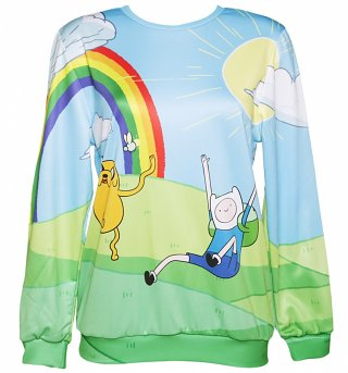 Unisex Adventure Time Scene Sweater from Mr Gugu & Miss Go