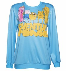 Unisex Blue Adventure Time Characters Sweater from Mr Gugu & Miss Go