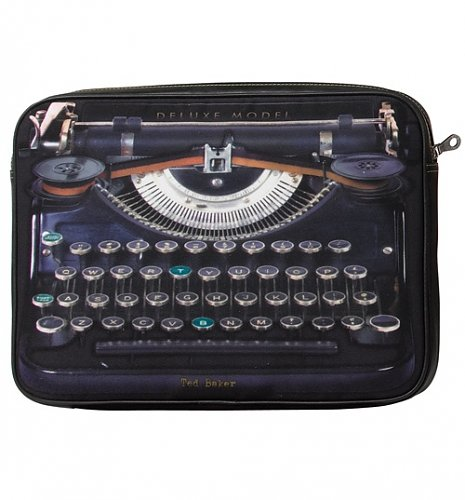 Vintage Typewriter Padded Laptop/iPad Sleeve from Ted Baker : Main