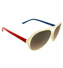 White Atlas Aviator Sunglasses from Jeepers Peepers