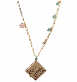Gold Plated Pixie Hollow Map Necklace from Disney Couture