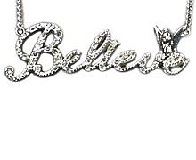 Silver Plated Pave Crystal Believe Tinker Bell Necklace from Disney Couture